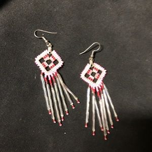 Navajo made beaded earrings